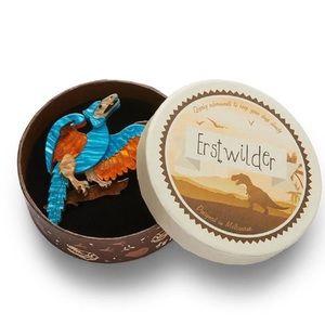 ERSTWILDER RYXY BUSINESS BROOCH Dinosaur Pinup